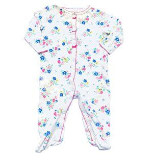 Carter's Floral Print Footed PJ's
